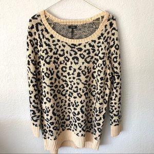 Nollie leopard print cardigan
